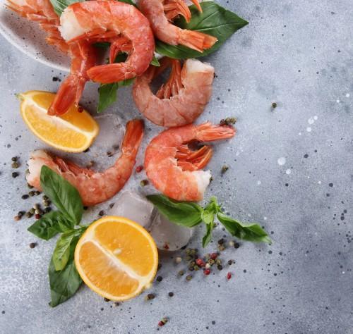 Argentininės raudonosios krevetės C1, 30/55, be galvos, su kiautu, 2 kg, šaldytos