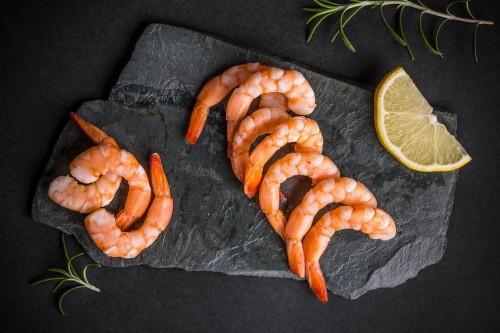 Baltakojos blyškiosos krevetės, 26/30, virtos, 1 kg, šaldytos