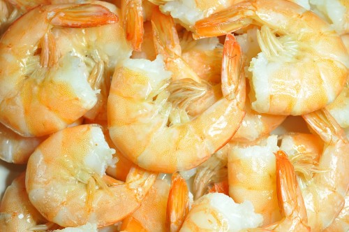 Baltakojos blyškiosos krevetės 26/30, be galvos, su kiautu, 10 kg, šaldytos