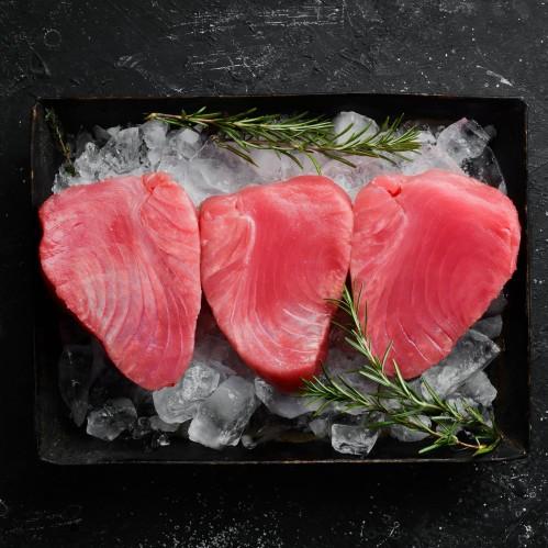Gelsvauodegio tuno filė, glazūruota, 25 kg, šaldyta