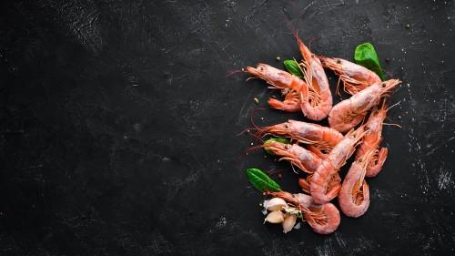 Šiaurinės dryžakojės krevetės, 70/90, virtos, 1,5 kg, šaldytos